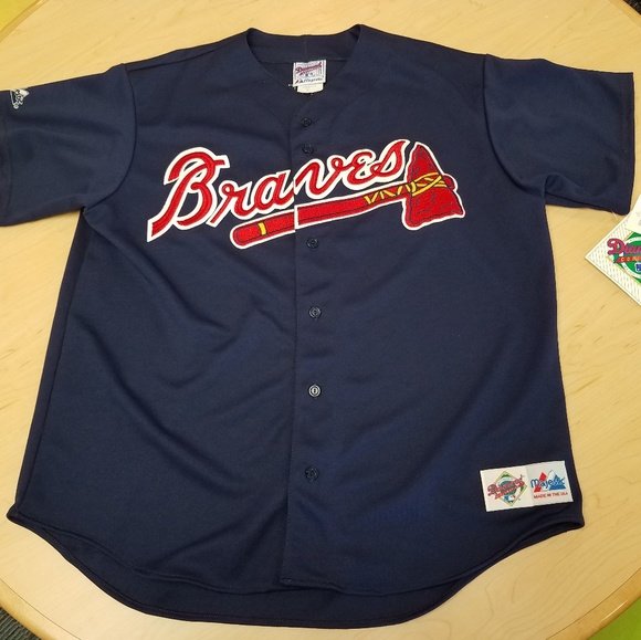 low priced 5730f aed37 NWT VTG Chipper Jones Majestic Jersey XL USA NWT